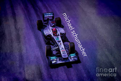 Michael Schumacher Poster by Marvin Spates