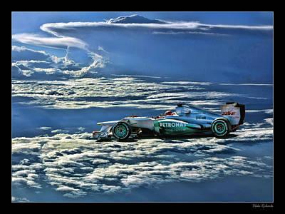 Michael Schumacher Mercedes Poster by Blake Richards