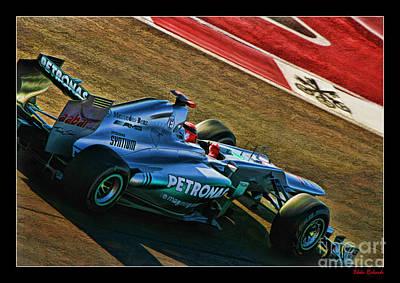 Michael Schumacher Silver Arrows Poster by Blake Richards