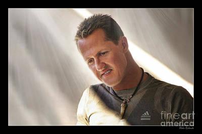 Michael Schumacher The Legend Poster by Blake Richards