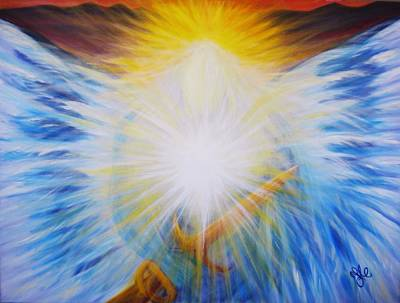Michael -the Vision - Michael Archangel Series By Yesi Casanova Poster