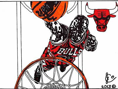 Micheal Jordan 2 Poster by Jeremiah Colley
