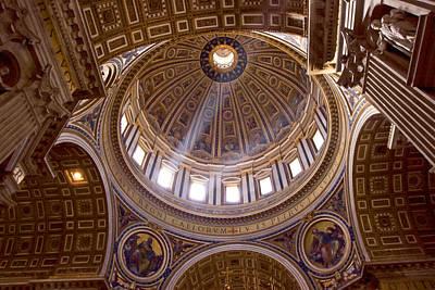 Michelangelo's Dome Poster by Walt  Baker