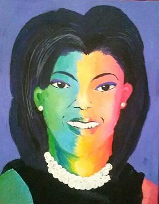 Michelle Obama Color Effect Poster by Kendya Battle