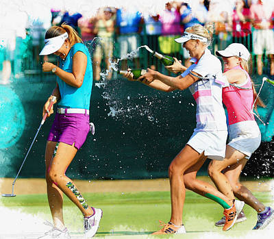 Michelle Wie - Winnning The 69th U.s. Women's Open 2014 Poster