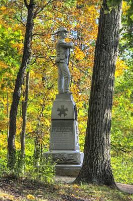 Michigan At Gettysburg - 24th Michigan Volunteer Infantry-2a Iron Brigade Near Willoughby Run Poster