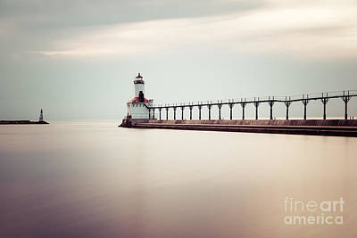 Michigan City Lighthouse Picture Poster by Paul Velgos