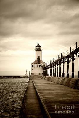 Michigan City Lighthouse Poster