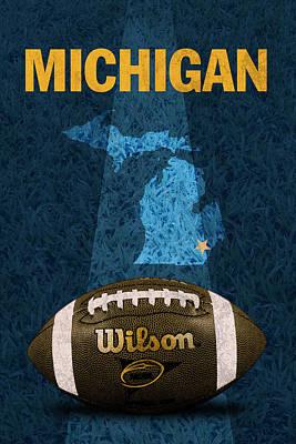 Michigan Football Poster Poster