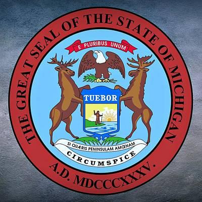 Michigan State Seal Poster