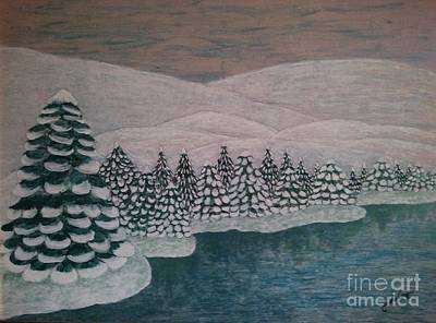 Michigan Winter Poster by Jasna Gopic
