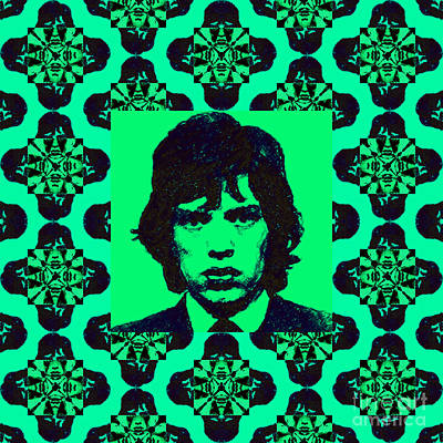 Mick Jagger Abstract Window P128 Poster by Wingsdomain Art and Photography