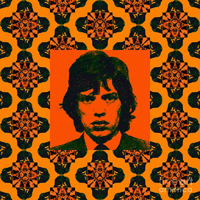 Mick Jagger Abstract Window Poster by Wingsdomain Art and Photography