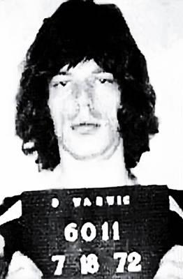 Mick Jagger Mugshot 1972 Poster by Bill Cannon