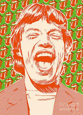 Mick Jagger Pop Art Poster by Jim Zahniser