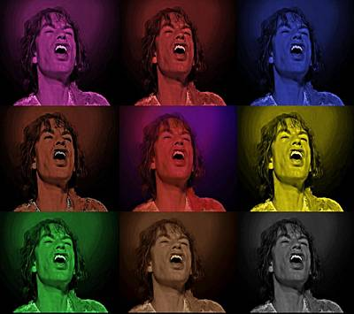 Mick Jagger Pop Art Print Poster