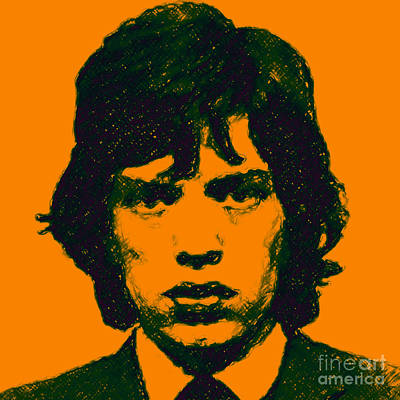 Mick Jagger Square Poster by Wingsdomain Art and Photography
