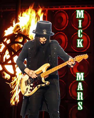 Mick Mars-motley Crue Poster by Matthew Breiter
