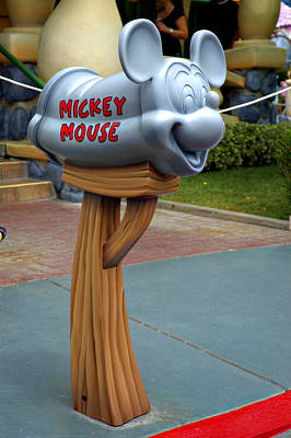 Mickey Mail Poster by Ricky Barnard