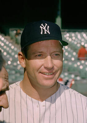 Mickey Mantle Famous Smile Poster by Retro Images Archive