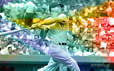 Mickey Mantle Poster by Marvin Blaine