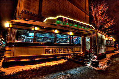 Mickey's Diner St Paul Poster by Amanda Stadther