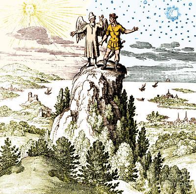 Microcosm Macrocosm 17th Century Poster by Nlm