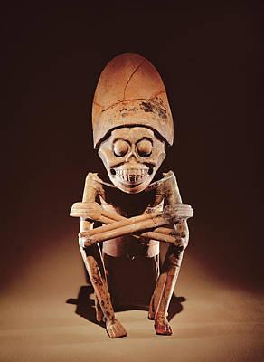 Mictlantecuhtli Lord Of Mictlan Remojadas Style, From Los Cerros, Tierra Blanca, Vera Cruz Pottery Poster by Pre-Columbian