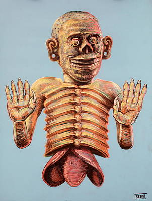 Mictlantecuhtli The Aztec God Of The Dead Poster