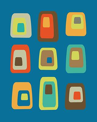 Mid Century Modern Oblongs Poster by Donna Mibus