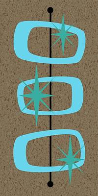 Mid Century Modern Shapes 1 Poster