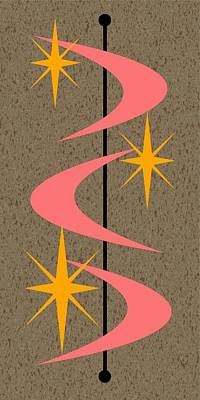 Mid Century Modern Shapes 5 Poster by Donna Mibus