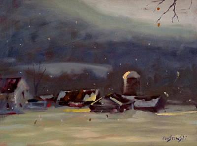 Mid Winter Poster by Len Stomski