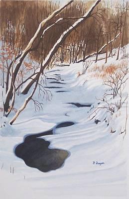 Mid Winter On The Alexauken Poster