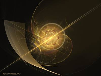 Poster featuring the digital art Midas Astral by Linda Whiteside