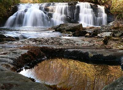 Poster featuring the photograph Middle Falls On Big Snowbird Creek by Doug McPherson