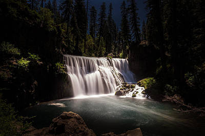 Middle Mccloud Falls Poster by Scott McGuire