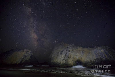 Midnight At Pfeiffer Beach Arch Poster