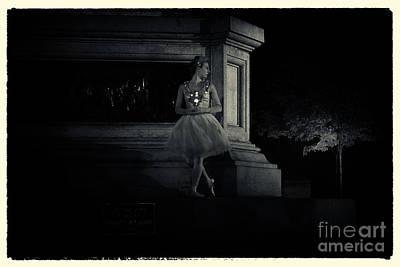 Midnight Ballerina New York City Poster by Sabine Jacobs
