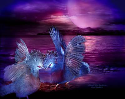 Midnight Blue Rendevous Poster
