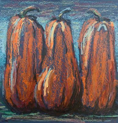 Midnight In The Pumpkin Patch Poster by Linda Krukar