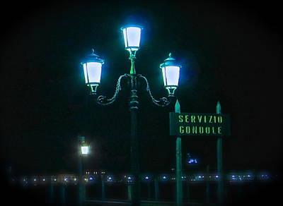 Midnight In Venice Poster by Rita Mueller