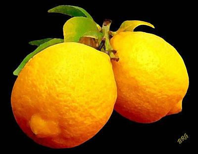 Midnight Lemons Poster by Ben and Raisa Gertsberg