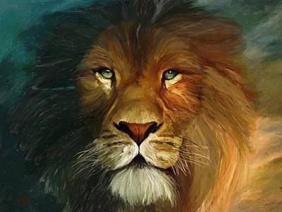 Lion Portrait Poster by James Shepherd