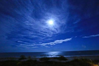 Midnight Moon Poster by John Roberts