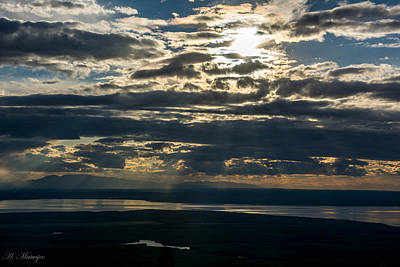 Midnight Sun Over Mount Susitna Poster