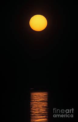 Midnight Sun With Transit Of Venus, 2012 Poster by Babak Tafreshi