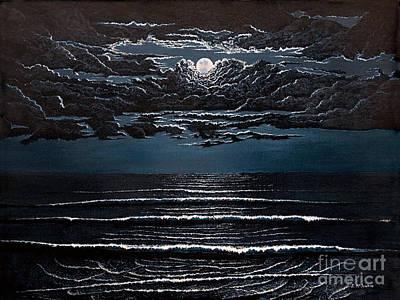 Midnight Surf Poster by Jeff McJunkin