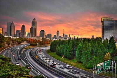 Midtown Atlanta Autumn    Poster by Reid Callaway