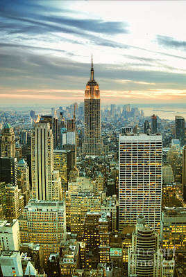 Midtown Manhattan And Empire State Building New York City Poster by Sabine Jacobs